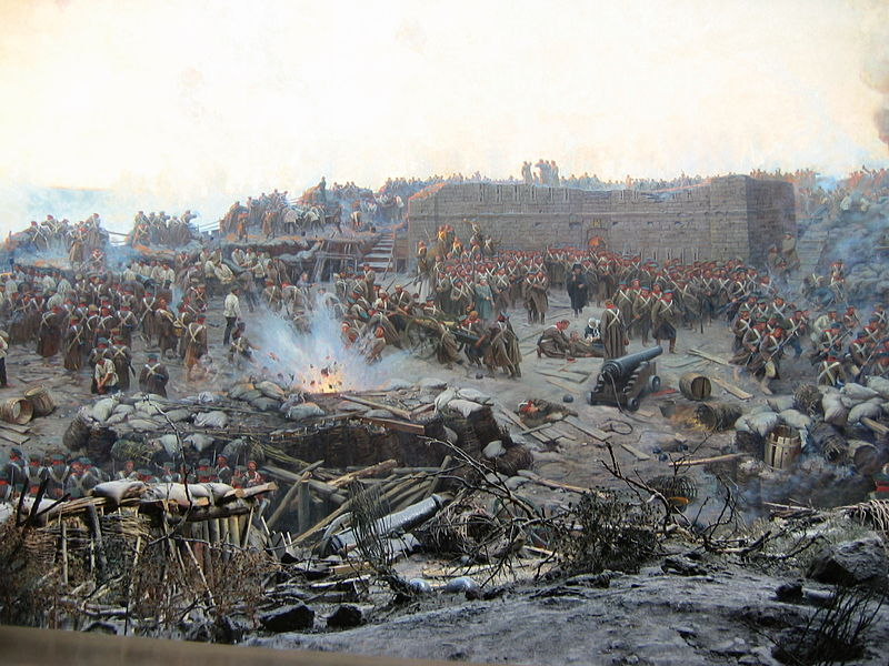 Part of the large painting of the Siege of Sevatsapol