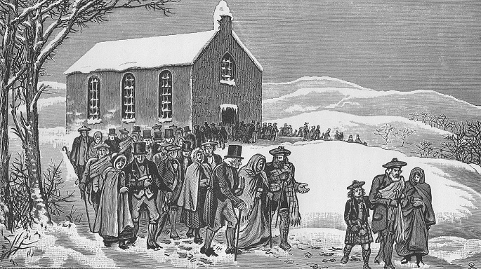 1841: The Congregation walks out of the Old Kirk of Marnoch