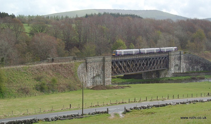 The railbridge over the Deveron at Rothiemay Station
